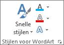 Groep WordArt-stijlen met alleen pictogrammen