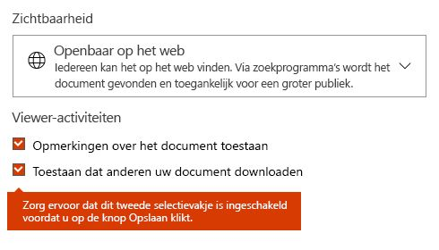 Optie voor downloaden van document in Docs.com