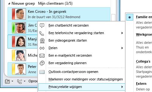 Contactgegevens personaliseren