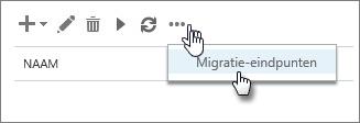 Naam van migratie-eindpunt