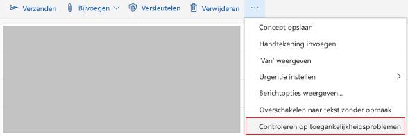 Outlook online controleren op hulpmiddelen voor toegankelijkheidsproblemen