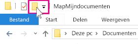 Het pictogram Nieuwe map.