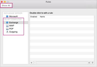 Voer Typ weer te geven kwartaal in het vakje Filternaam in het taakvenster in.