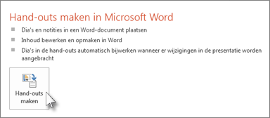 Hand-outs maken in Word