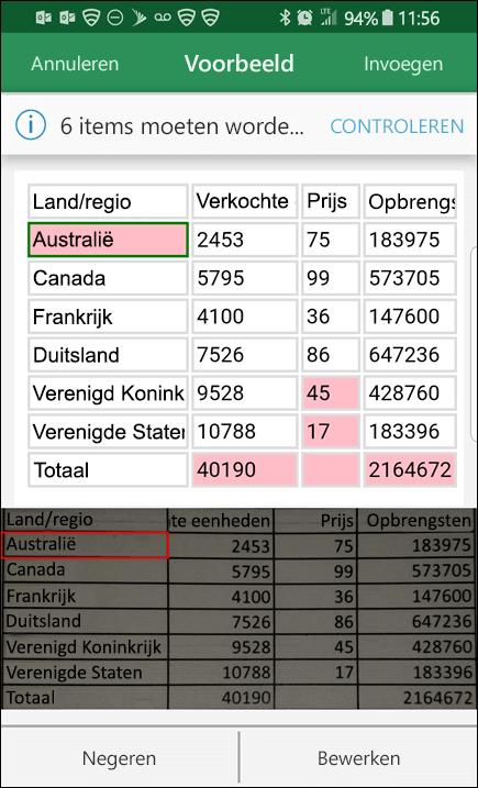 Met Excel-gegevens importeren uit een afbeelding kunt u problemen die u tegenkomt bij het converteren van uw gegevens, oplossen.