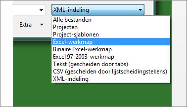 Selecteren welke Excel-werkmap u voor gegevens wilt openen