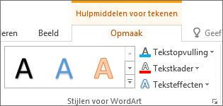 Groep WordArt-stijlen