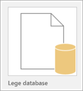 Pictogram van een lege database