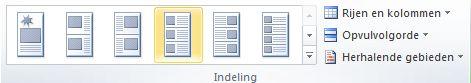 Indelingsopties voor catalogus samenvoegen