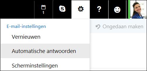 Automatische antwoorden in de webversie van Outlook