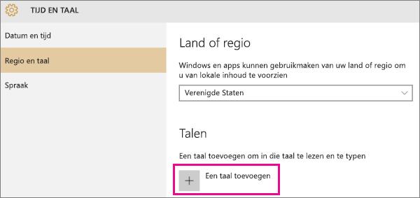 Een taal toevoegen in Windows 10