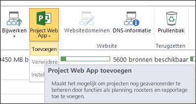 Project Web App > Toevoegen
