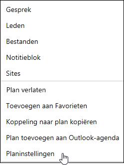E-mail ontvangen over een plan