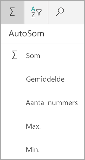 Windows-tablet, Som in Excel