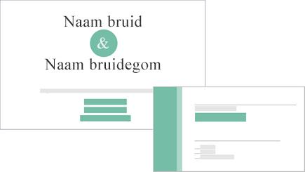 Conceptuele weergave van een uitnodiging voor een bruiloftsfeest en antwoordkaart