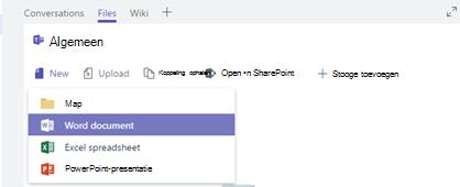 Een nieuw bestand maken of uploaden naar de bestanden bibliotheek van uw kanaal
