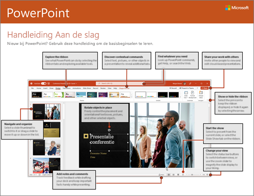 Aan de slag met PowerPoint 2016 (Windows)
