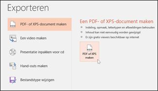 Een presentatie als PDF opslaan