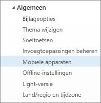 Algemeen > Mobiele apparaten