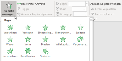 Animatie toevoegen in PowerPoint in Office 365