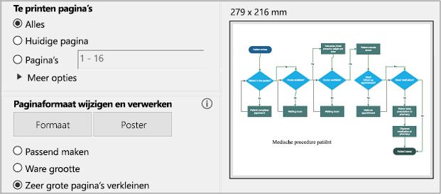 Dialoogvenster PDF afdrukken