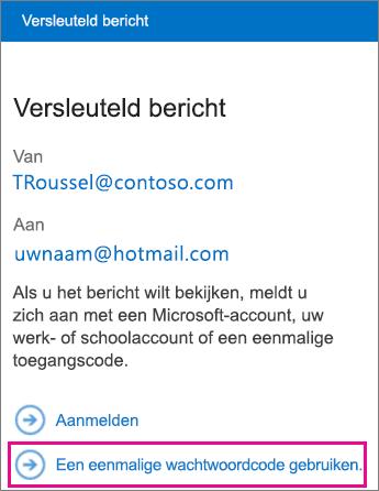 OME Viewer - bericht met toegangscode
