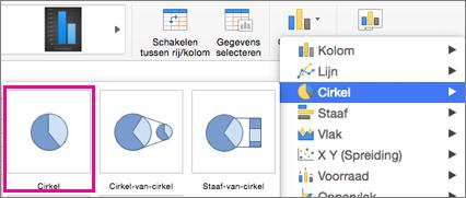 Office voor de grafiektypeselector van Mac