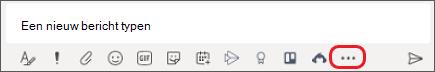 Vak waar u berichten typt in Microsoft teams