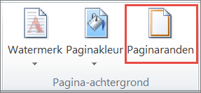 Word 2010-knop Paginaranden