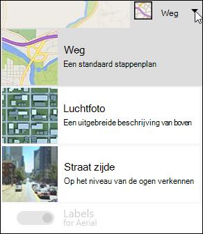 Kaarttype webonderdeel Bing Kaarten