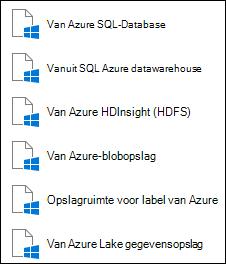 Gegevens ophalen uit Microsoft Azure