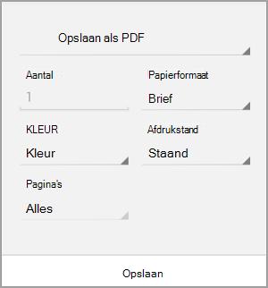 Opslaan als PDF