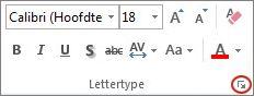 startpictogram voor het dialoogvenster Lettertype