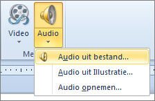 Het menu Audio