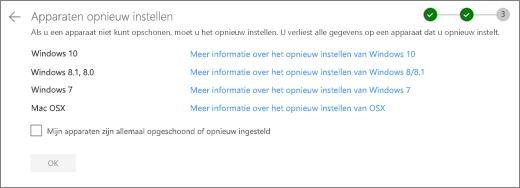 Schermafbeelding van het scherm van de Rest apparaten op de website van OneDrive