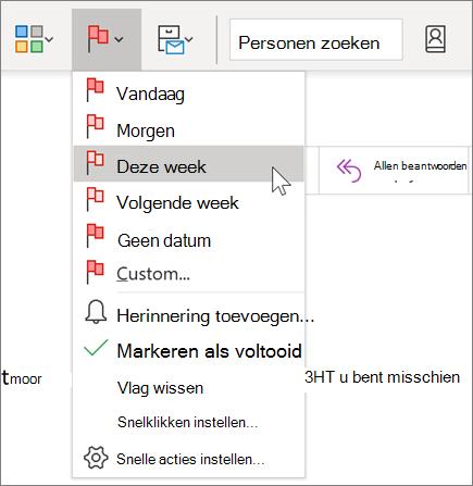 Een bericht markeren voor opvolgen in Outlook