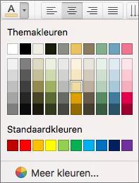 Een tekstkleur kiezen