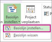 Een basislijn instellen voor uw project