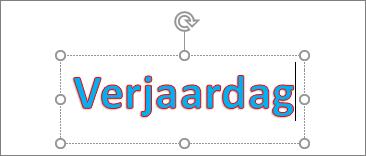 WordArt met tekstopvulling en omtrekkleur