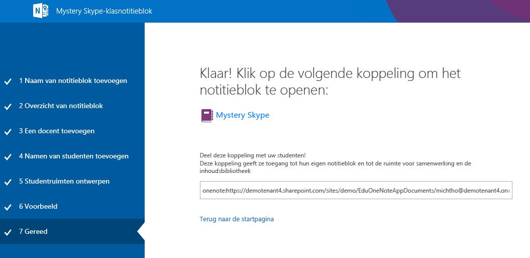 Het instellen van Mystery Skype is klaar