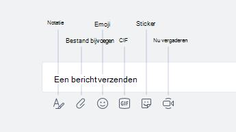 Emoji, GIF, stickers en andere opties