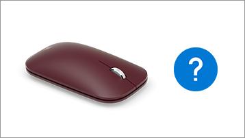 Surface-muis en vraagteken