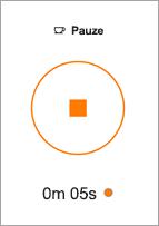 Druk op de knop stoppen tot het einde van een einde.