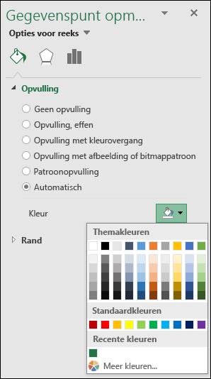 Kleurenopties voor categoriekaarten in Kaartgrafiek in Excel