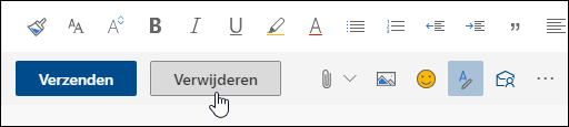 Schermafbeelding van de knop Verwijderen