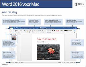 Aan de slag met Word 2016 voor Mac