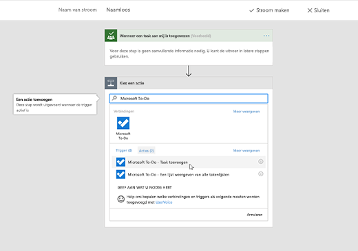 Schermafbeelding van Microsoft To-Do geselecteerd