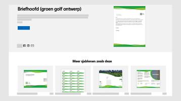 Document-sjablonen voor bedrijven op templates.office.com