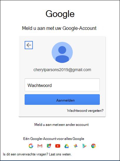 Voer uw Gmail-wachtwoord in.