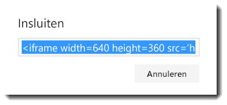 Invoegcode voor een Office 365-video